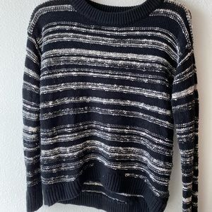 Calvin Klein Jeans High Low Striped Sweater